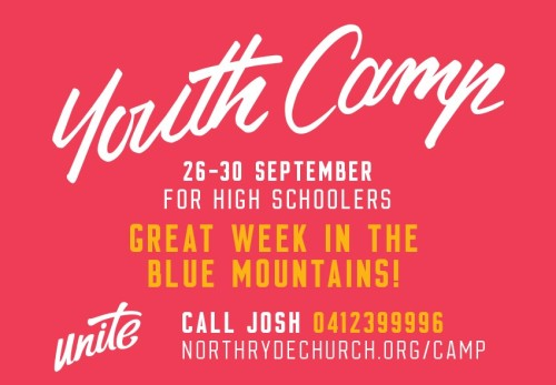 Advert - Youth Camp - Aug 2016