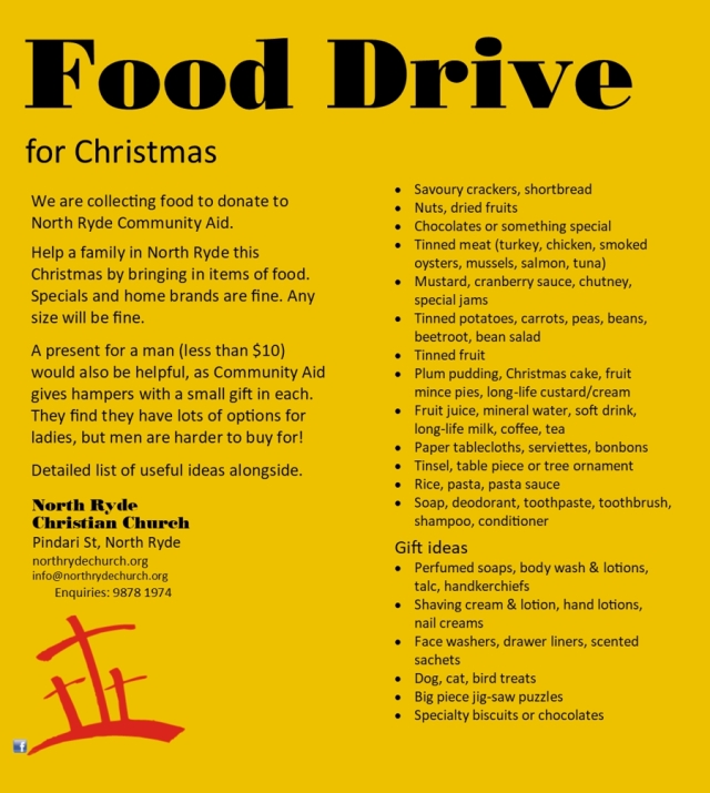 Food drive list for web 900px