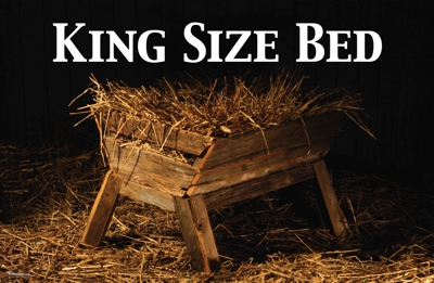 King size bed - Manger and straw