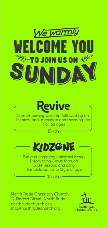 What's on Sunday at North Ryde Christian Church
